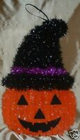 "Jack- O- Lantern -HALLOWEEN-DECORATION Shimmering Garland Pumpkin-Witch 15"" x 9"""