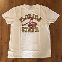 Chubbies Collegiate T-Shirt FSU Florida State Seminoles White Men's Size: S, M