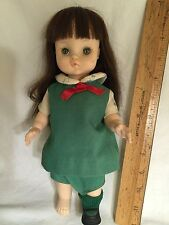 "Effanbee 11"" Marked Girl Scout Doll 1966 Brown hair long"