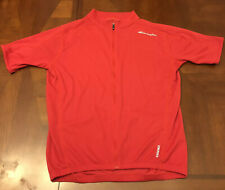 BELLWETHER Cycling Jersey Men's Large SS Shirt Red Cadence Bicycle Road 9181 Zip