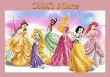 Childrens/Kids A4 Princess dinner mat / place mat. Personalised