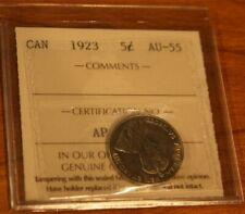 Canada 5 Cents 1923 AU-55 ICCS