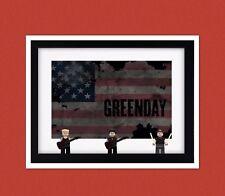 Green Day custom lego minifigure frame