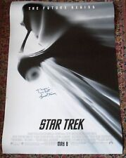Leonard Nimoy signed autographed STAR TREK 2009 movie film double sided poster