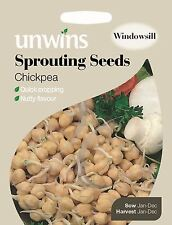 Unwins Pictorial Packet - Sprouting Seeds Chickpea - 100 Seeds