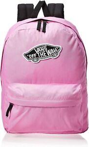 Vans Realm Backpack Fuchsia/Pink/Black Off The Wall School Laptop Bookbag NEW
