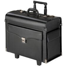 Travel Bag Briefcase Business Pilot Trolley Suitcase lockable rollers black