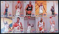 1996 1996 Upper Deck 96 Team USA Basketball Atlanta Olympics Jumbo 10 Card Set
