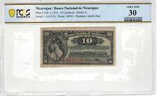 Nicaragua 1912 10 Centavos PCGS Banknote Certified Very Fine 30 Pick 52b ABNC