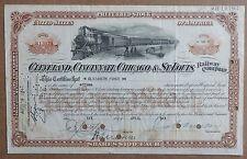 Vintage Railroad Share certificates (11)