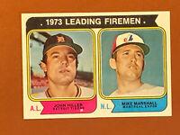 1974 Topps Card Leading Firemen John Hiller, Mike Marshall #208 MINT