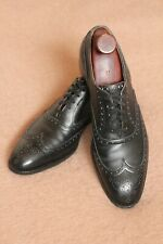 VTG EDWARD GREEN 202 Nordstrom Black Wingtip Oxford Dress Shoes England 11.5B UK