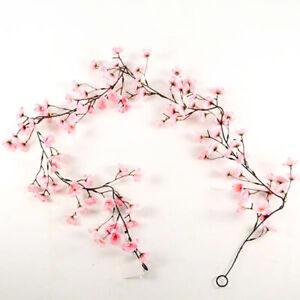 Spring Artificial Silk Blossom Garland 6ft 182cm Pink