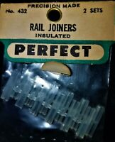 PERFECT INSULATED RAIL JOINERS, #432  NEW