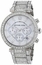 Michael Kors MK5572 Parker Women's Silver Chrono Watch