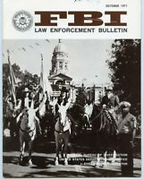 October 1971 FBI Law Enforcement Bulletin - Nice Condition