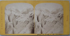 Photo Stéréo A. Braun Glacier Rosegg Piz Corvatsch 1880