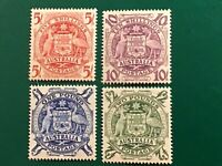 Australia stamps 1949/50 set of 4 GVI Mint