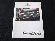 2004 Porsche Cayenne S & Turbo Tequipment Brochure Accessory Catalog Wheels Wood