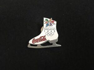 1998 NAGANO OLYMPIC COCA COLA PIN BADGE FIGURE SKATE PINS