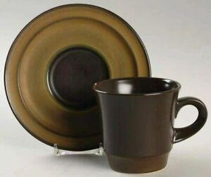 Noritake Primastone Campobello 8305 Tea Cup and Saucer Japan 1970s Retro
