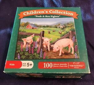 "Jane Maday Art Children's Collection ""Peek-A-Boo Piglets"" 100 Pieces"