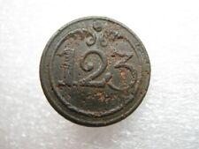 Relic button of 123rd line regiment Napoleon war 1812