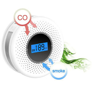 Combination Smoke and Carbon Monoxide Detector with Display