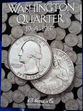 H.E. Harris Washington Quarter 1965-1987 Coin Folder #3, Album Book #2690