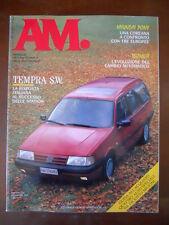 AM Mensile Automobile n°16 1990 Nissan terrano Audi 80 Hyundai Pony [P40]