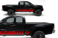 Vinyl Decal Sport Rocker Panel Wrap Kit Fits: Toyota Tacoma  2005-2012 Dark Red