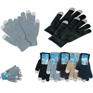 6-12 Men's Women Magic Winter Touch Screen Gloves Smart Phone Tablet Mitten Lot