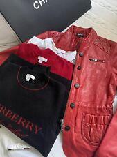 Burberry Set ,2Pullover+1Bluse,+DKNY Lederjacke,Mädchen,Girl 10J.Hohe Np.4Teile!