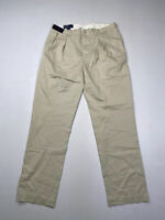 RALPH LAUREN ETHAN Chino Trousers - W36 L34 - Cream - New With Tags - Men's