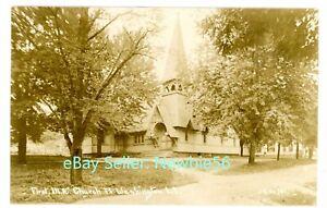 Port Washington LI NY -FIRST M.E. CHURCH- RPPC Thaddeus Wilkerson Postcard