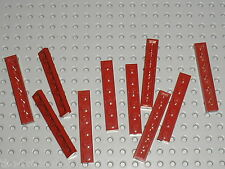 10 x LEGO DkRed plate 1x6 ref 3666 / Set 10189 7674 7665 10215 8039 8019 7751...