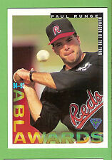 1995 AUSTRALIAN BASEBALL CARD #87  PAUL RUNGE, MANAGER OF THE YEAR