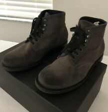 Bottega Veneta Boots 8 41 Gray Suede Army Style Light Distressing Made in Italy