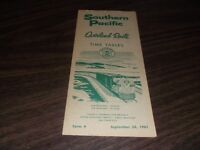 JANUARY 1961 SOUTHERN PACIFIC OVERLAND ROUTE PUBLIC TIMETABLE
