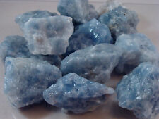 BLUE CALCITE ROUGH ROCKS - 2 1/2 LB Lot -Nice Quality, Lapidary - FREE SHIPPING