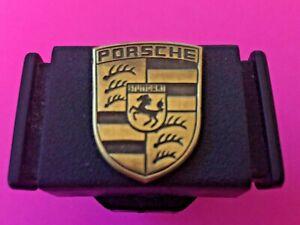 Porsche 924/944 black glove box lock (no key) with Porsche logo badge 133857131b