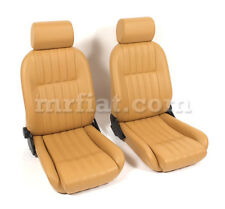 Fiat 124 Spider Tan Leather Seat Set 1979-85 New
