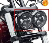 "4.65"" Blackout LED Motor DRL Headlights for Harley Dyna Fat Bob Headlamp"
