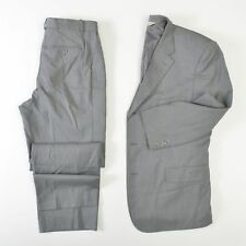 Pronto Uomo 3-Button Wool Suit Gray Comfort Stretch Mens 48R 34X30