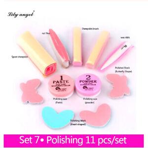 Nail Treatment conditioner Care 11Pcs / Set Nail Polishing Paste Powder Kit New