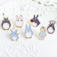 Cartoon Anime Animal Enamel Brooch Pin Women Coat Shirt Lapel Badge Kawaii Gifts