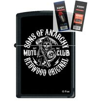 Zippo 2940 sons of anarchy-moto Lighter with *FLINT & WICK GIFT SET*