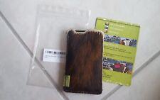 ALMWILD Handgemachte Handyhülle/Tasche/Etui aus Merinofilz & Kuhfell