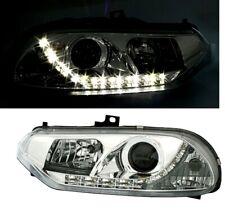 Scheinwerfer Alfa Romeo 156 97-03 LED Tagfahrlicht Optik Klarglas Chrom Set Neu