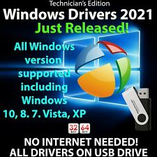 Windows Drivers 2021 USB for Windows 10, 8, 7, Vista, XP Both 32/64bit